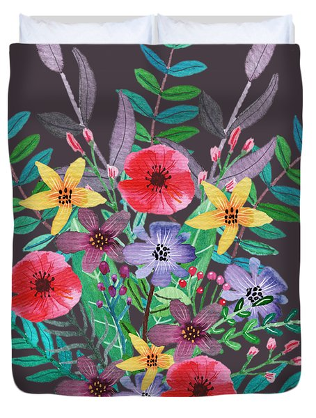 Just Flora II Duvet Cover