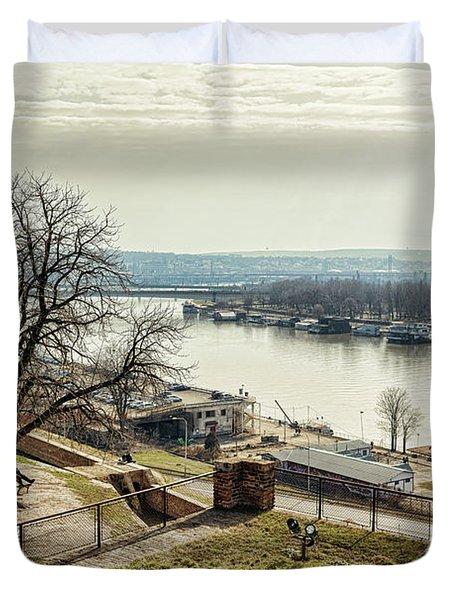 Kalemegdan Park Fortress In Belgrade Duvet Cover