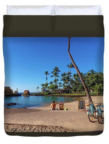 Kamakahonu Beach Duvet Cover