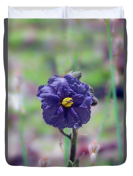 Duvet Cover featuring the photograph Kangaroo Apple, Solanum Aviculare by Elaine Teague