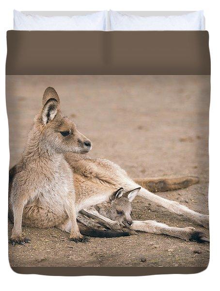 Kangaroo Outside Duvet Cover