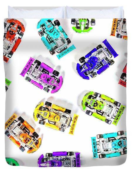 Karting Patterns Duvet Cover