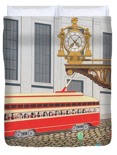 Kaufmann Clock Duvet Cover