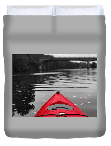 Kayaking The Occoquan Duvet Cover