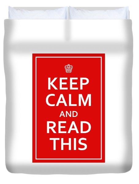 Keep Calm - Read This Duvet Cover