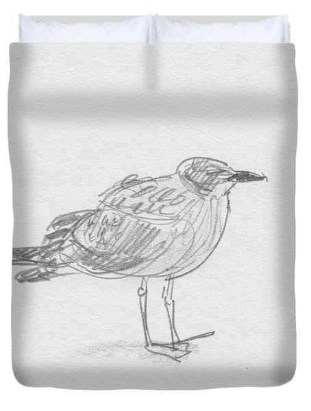 Kelp Gull Duvet Cover