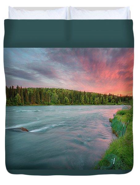 Duvet Cover featuring the photograph Kenai River Alaska Sunset by Nathan Bush