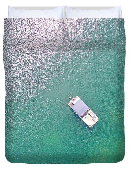 Keuka Lake Boating Duvet Cover