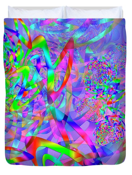 Duvet Cover featuring the digital art Key Remix One by Vitaly Mishurovsky
