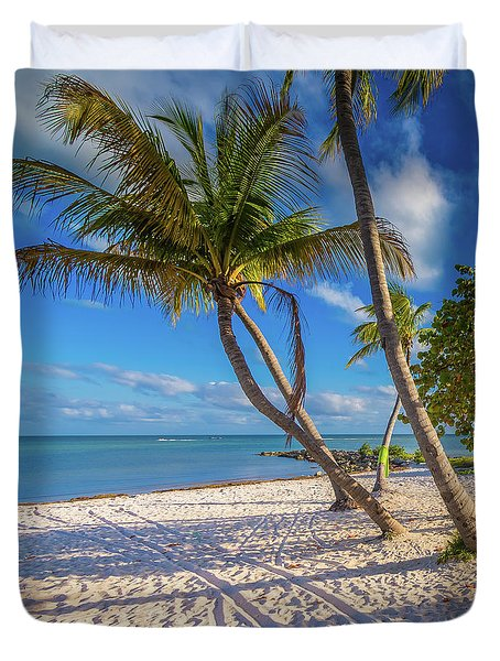 Duvet Cover featuring the photograph Key West Florida by Robert Bellomy