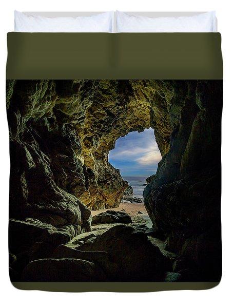 Keyhole Cave In Malibu Duvet Cover