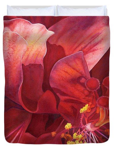 Kilauea's Kiss Duvet Cover