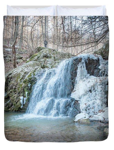 Kilgore Falls In Winter Duvet Cover