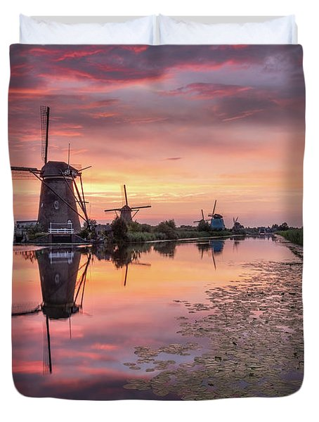 Kinderdijk Sunset Duvet Cover