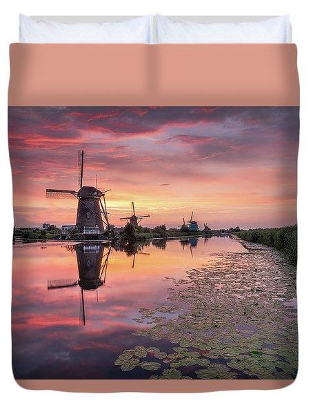Kinderdijk Sunset Duvet Cover