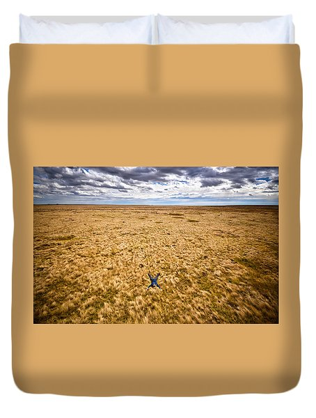 Duvet Cover featuring the photograph King Of The Hill by Carl Young