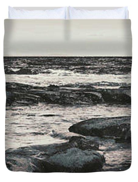 Kings Beach Rocky Panoramic Duvet Cover