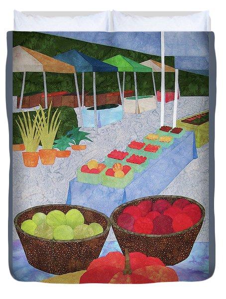 Kings Yard Farmers Market Duvet Cover
