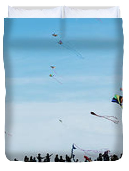 Kite Fest Panorama Duvet Cover