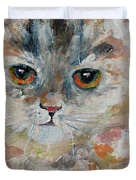 Kitten Portrait Duvet Cover