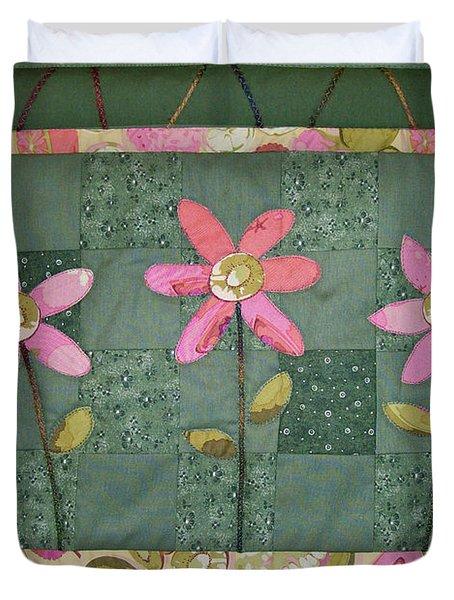 Kiwi Flowers Duvet Cover