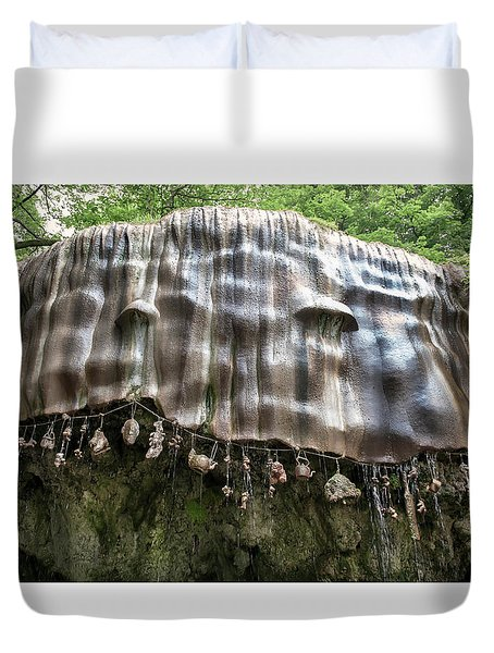 Knaresborough, Stone Waterfall Duvet Cover