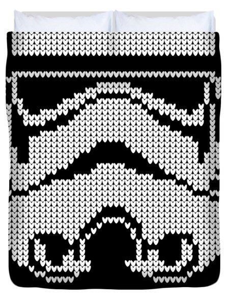 Knitted Storm Trooper - Join The Empire Duvet Cover