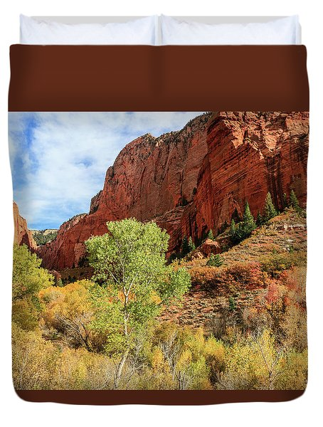 Kolob Canyon 1, Zion National Park Duvet Cover