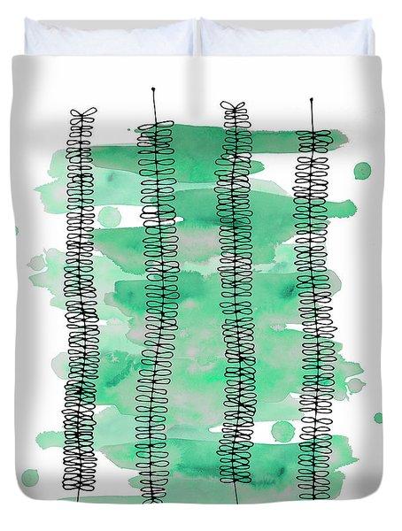 Kowhai Watercolor Duvet Cover