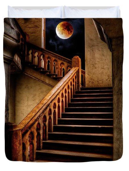 Ktm Stairway Moon Duvet Cover