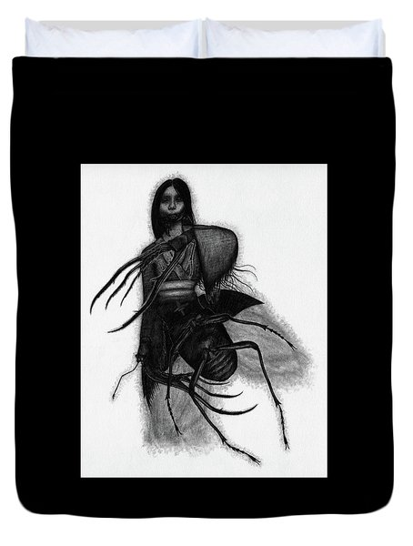 Kuchisake-onna The Slit Mouthed Woman Ghost - Artwork Duvet Cover