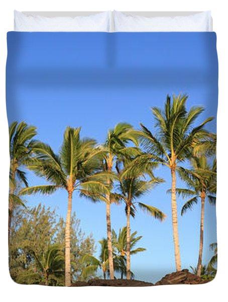Golden Palms Duvet Cover