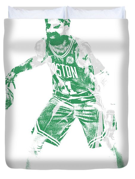 Kyrie Irving Boston Celtics Pixel Art 72 Duvet Cover