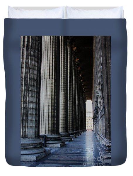 Duvet Cover featuring the photograph La Colonnade De La Madeleine by Rick Locke