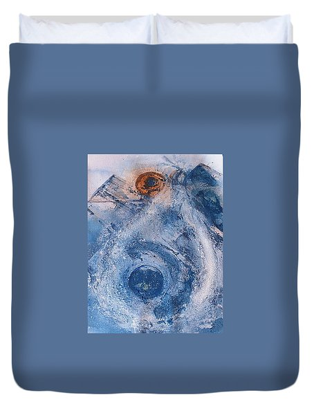 Duvet Cover featuring the painting  La Donna Del Lago by 'REA' Gallery