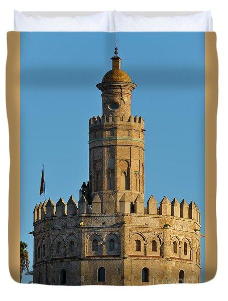La Torre De Oro Detail. Seville Duvet Cover