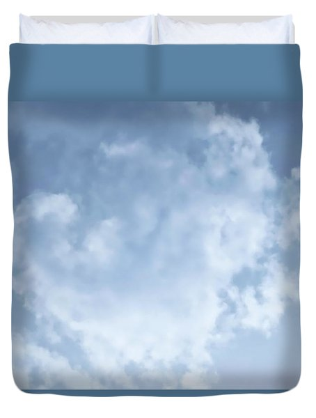 Duvet Cover featuring the photograph Lace Agate Sky by Judy Kennedy