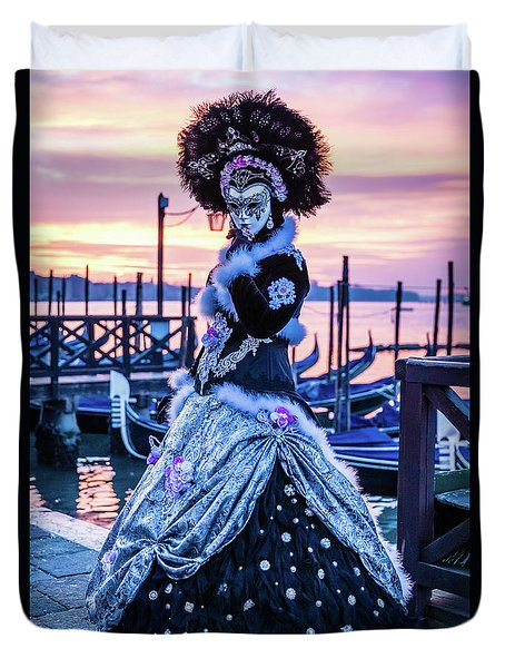 Lady In Black Duvet Cover