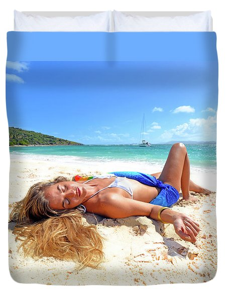 Lady Of The Leewards Duvet Cover