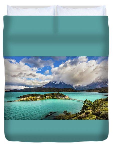 Lago Pehoe, Chile Duvet Cover