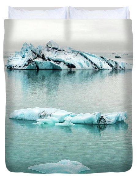 Lagoon Icebergs - Iceland Duvet Cover