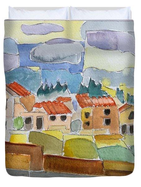 Laguna Del Sol Houses Design  Duvet Cover