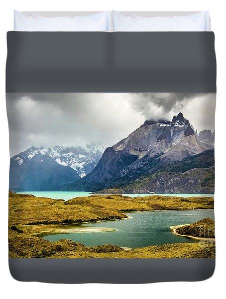 Laguna Larga, Lago Nordernskjoeld, Cuernos Del Paine, Torres Del Paine, Chile Duvet Cover