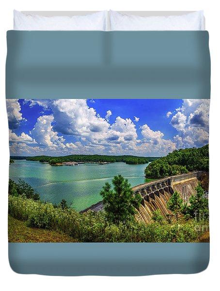 Lake Allatoona Dam Duvet Cover