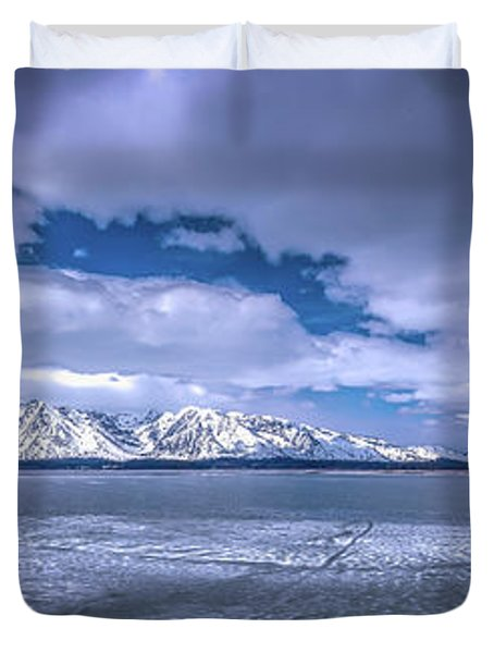 Lake Jackson Wyoming Duvet Cover