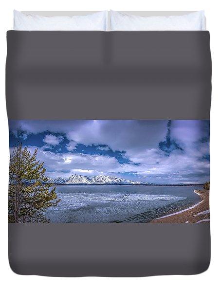 Lake Jackson Wyoming Duvet Cover