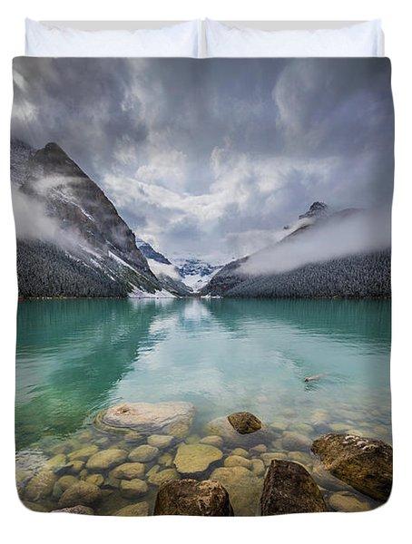 Lake Louise Misty Dawn Duvet Cover