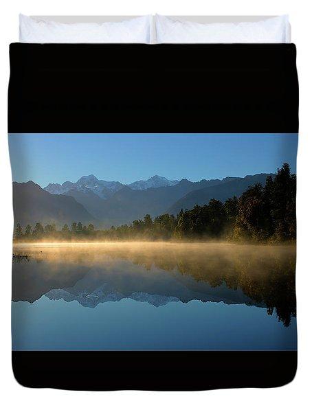 Lake Matheson Morning Duvet Cover