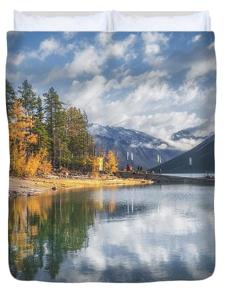Lake Miniwanka Duvet Cover