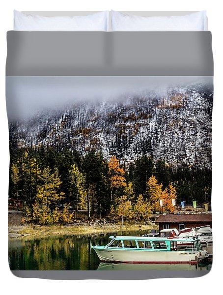 Lake Minnewanka, Banff National Park, Alberta, Canada Duvet Cover